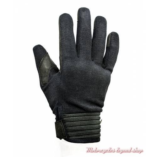 Gant textile Simple été Helstons homme, noir, homologués