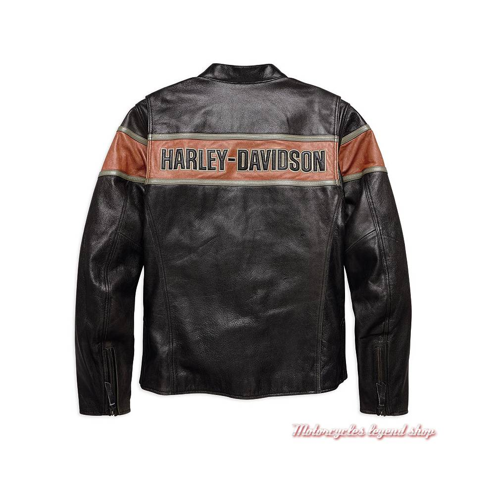 blouson cuir victory lane harley davidson homme motorcycles legend shop. Black Bedroom Furniture Sets. Home Design Ideas