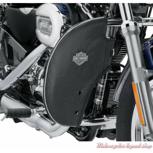Bas de carénages souples Harley-Davidson de pare-jambes, Sportster, toile lavable, noir, 57100211