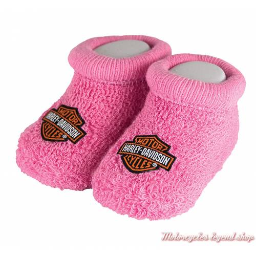Chaussons bébé Bar & Shield rose Harley-Davidson, coton, nylon, S9LGL20HD