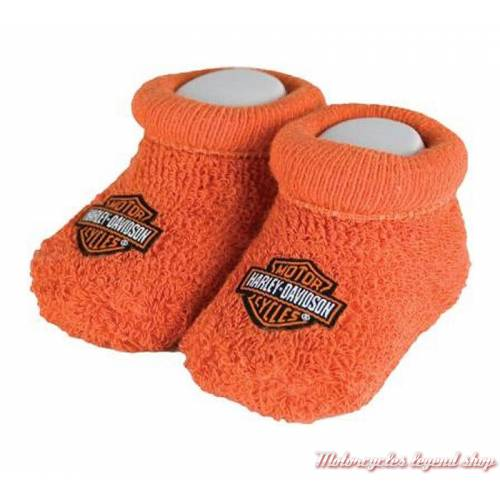 Chaussons bébé Bar & Shield orange Harley-Davidson