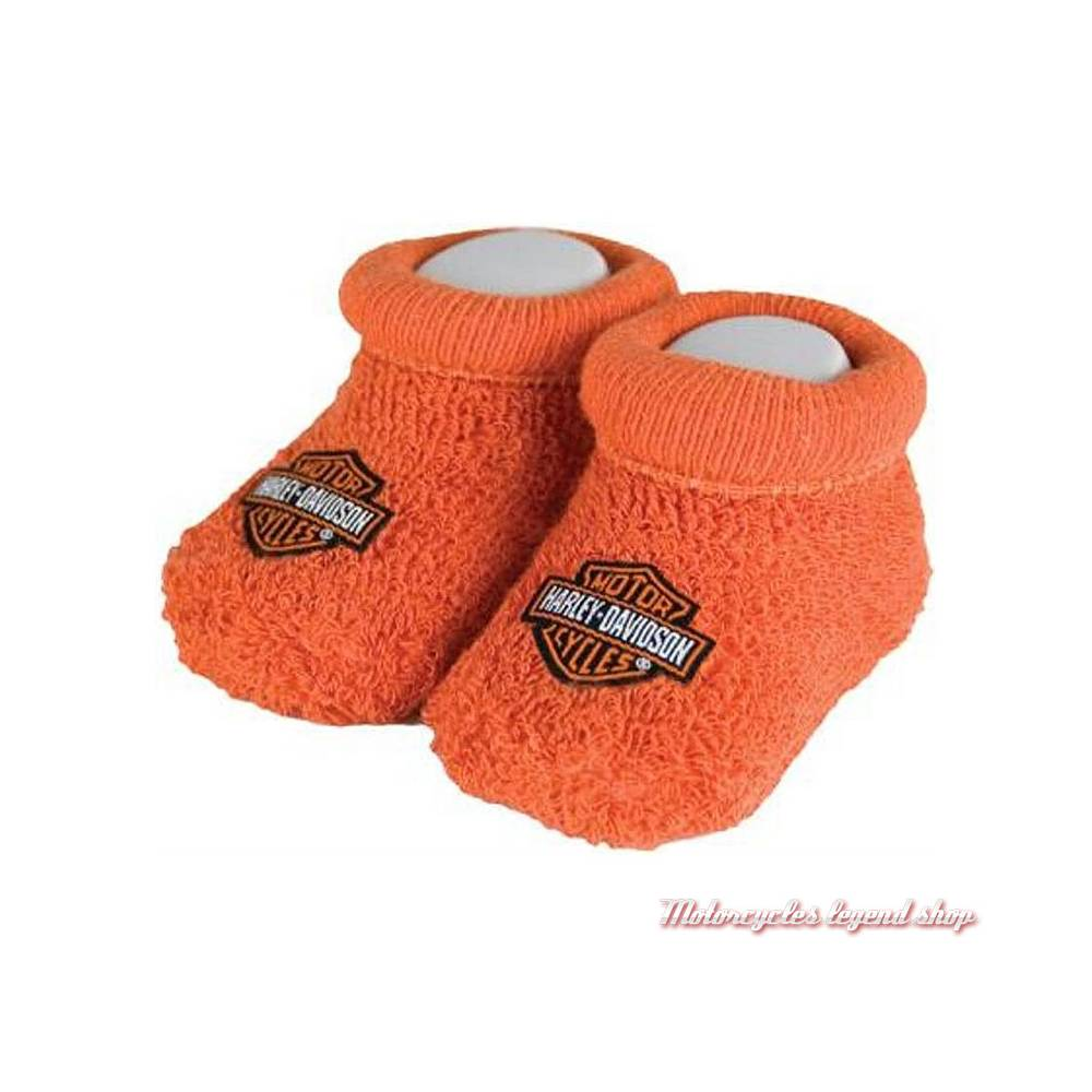 Chaussons bébé Bar & Shield orange Harley-Davidson, coton, nylon, S9LUL22HD