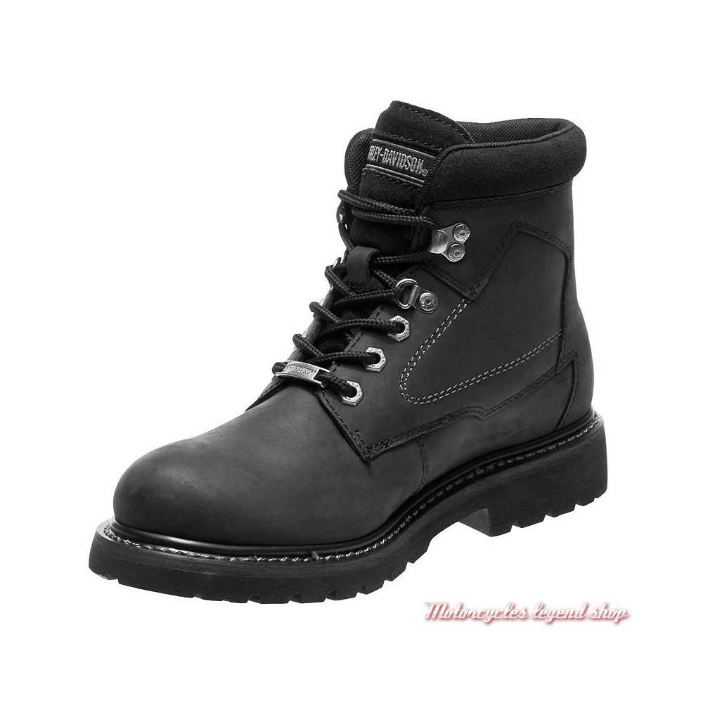 Chaussures Thurmond Harley-Davidson homme, cuir noir, waterproof, homologués CE, à lacets, D97014-2