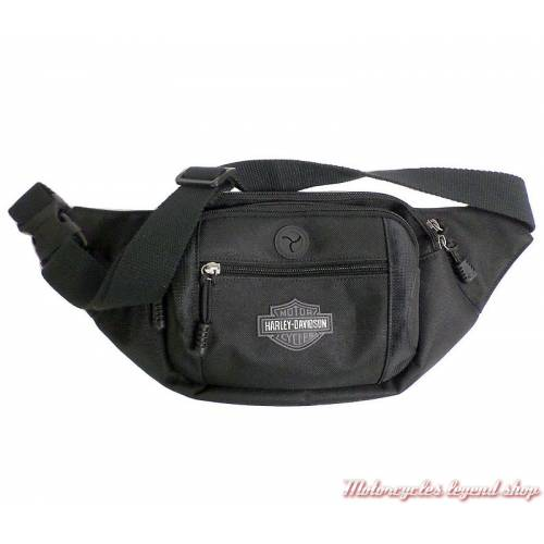 Sac besace Bar & Shield Harley-Davidson, mixte, noir, sangle réglable, BP2200S-GRYB&S