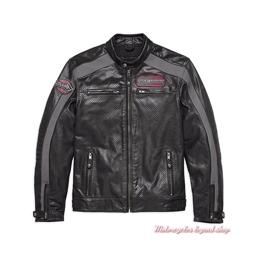 blouson cuir clarno harley davidson homme motorcycles legend shop. Black Bedroom Furniture Sets. Home Design Ideas