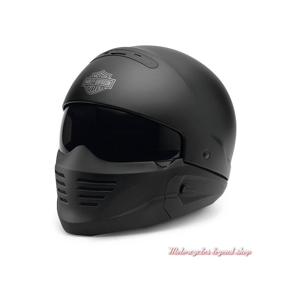 Casque Pilot II 2 en 1 Harley-Davidson, noir mat, casque 5/8 et masque, 98133-18EX