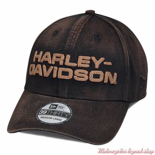 Casquette Oil Washed Harley-Davidson homme, marron, 39THIRTY, 97650-18VM