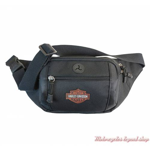 Sac besace Bar & Shield orange Harley-Davidson, mixte, noir, sangle réglable, BP2200S-ORGB&S