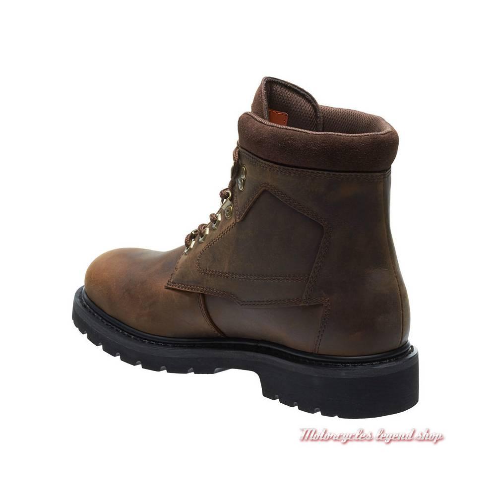 Chaussures Thurmond Harley-Davidson homme, cuir marron, waterproof, homologués CE, à lacets, D97015-2
