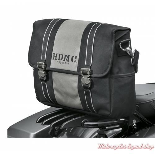 Sac Coursier HDMC Harley-Davidson, toile, noir, gris, 93300099