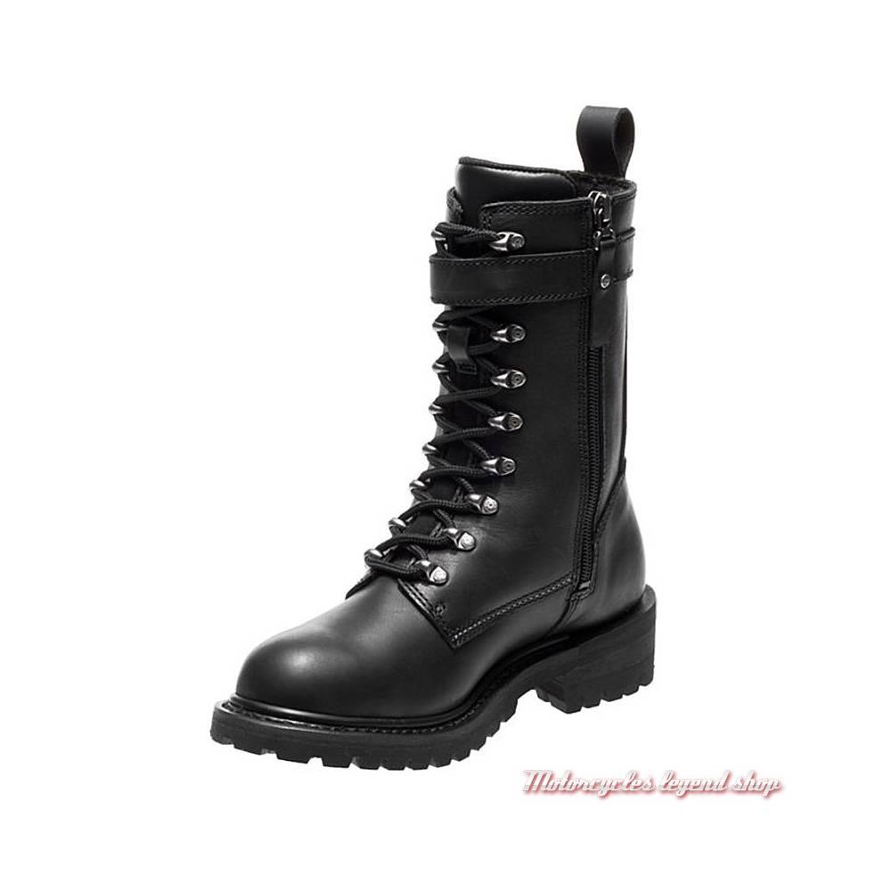Chaussures Calvert Harley-Davidson femme, à lacets, zippé, Cool system, noir, D86035-2