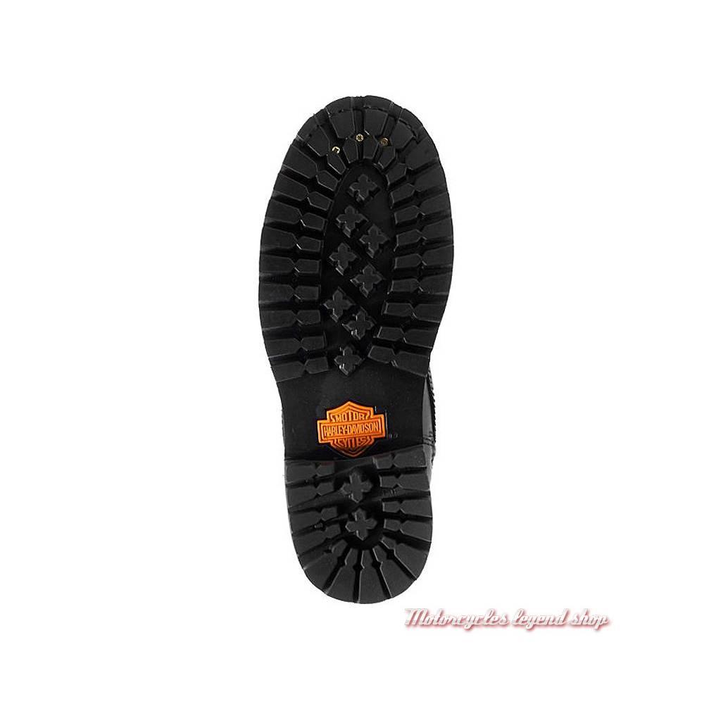 Chaussures Calvert Harley-Davidson femme, à lacets, zippé, Cool system, noir, semelle, D86035