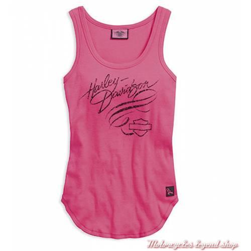 Débardeur Pink Label Harley-Davidson, femme, rose, coton, 99122-16VW