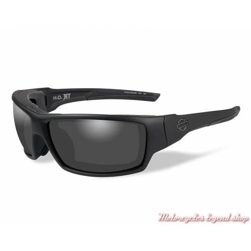Lunettes solaires Jet Harley-Davidson noir mat, cavité intérieur amovible, HDJET01