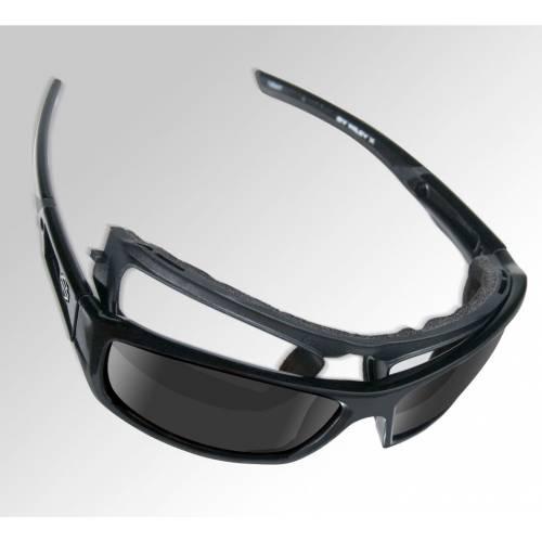 Lunettes solaires Jet Harley-Davidson noir mat, visuel cavité intérieur amovible, HDJET01