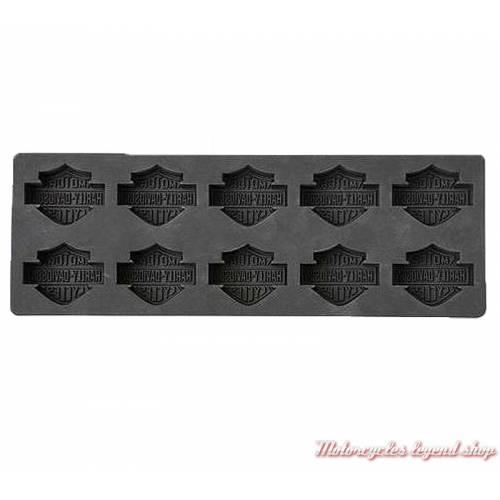 Bac à 10 glaçons Bar & Shield, silicone noir, Harley-Davidson, interieur, HDX-98500