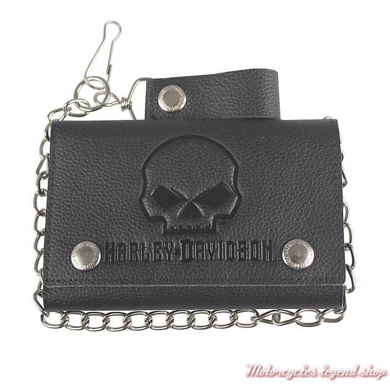 Portefeuille Skull Black Plus Harley Davidson Motorcycles Legend Shop