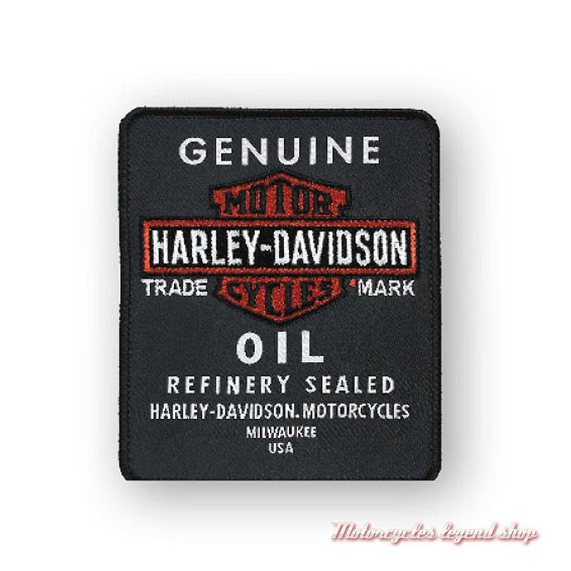 Patch Genuine Oil Harley-Davidson, brodé, EM212302