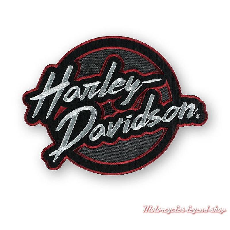 Patch Edgy Harley-Davidson, rétro, brodé, noir, rouge, gris, EM321364