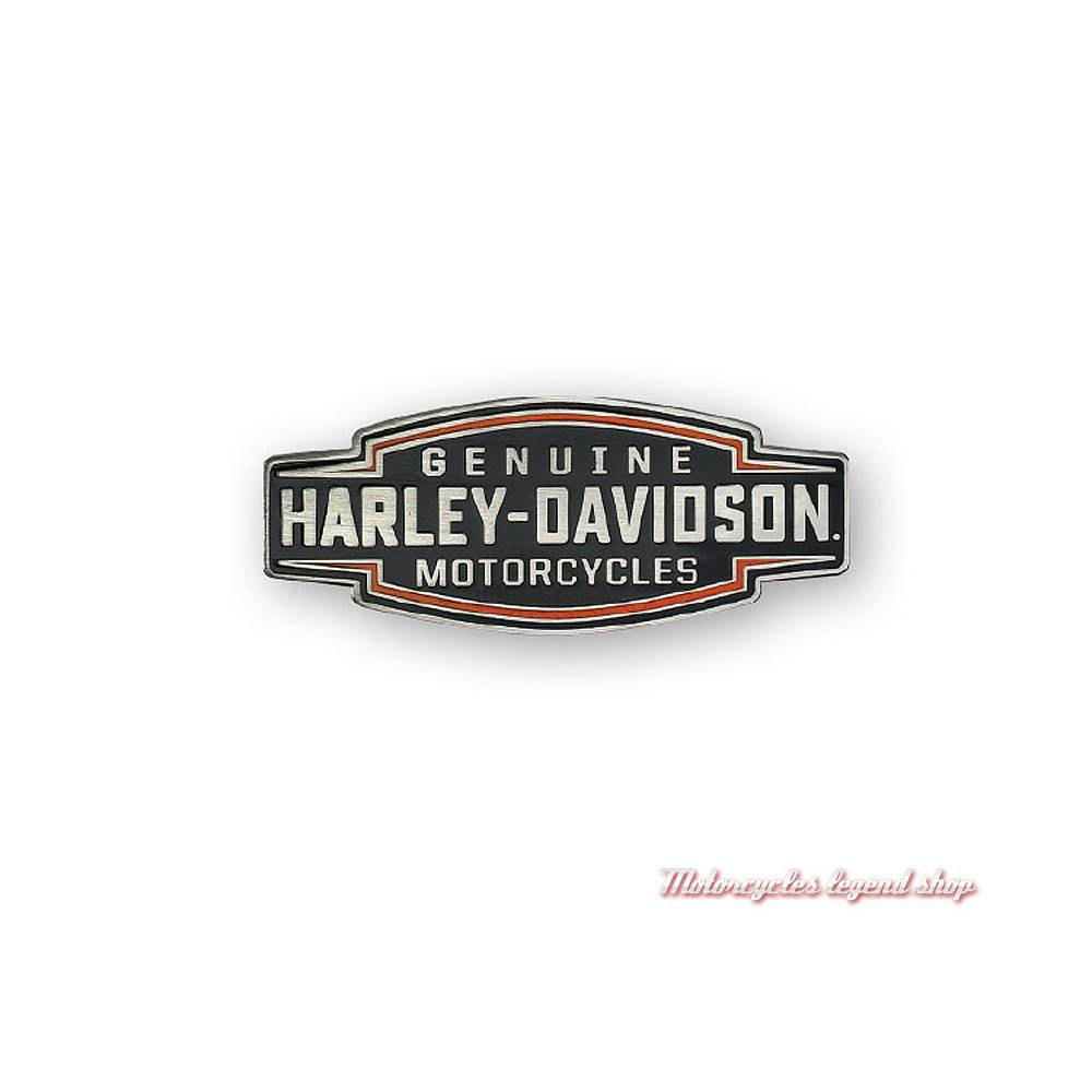 Pin's Velocity Text Harley-Davidson, metal nickel et noir, P327644