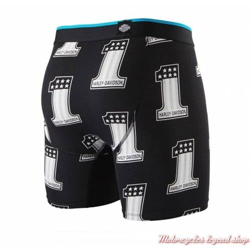 Boxer One Harley-Davidson, homme, noir, gris, dos, Stance M801D18ONE