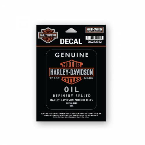 Stickers Genuine Oil Harley-Davidson, mat, DC212302