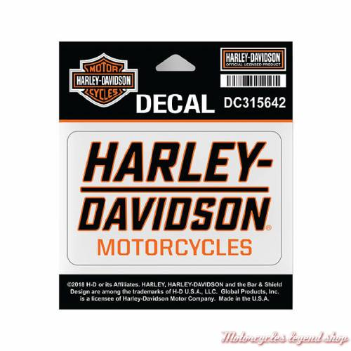 Sticker Traction Harley-Davidson, noir, orange, DC315642