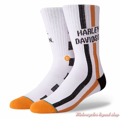 Chaussettes Checkers Harley-Davidson homme, blanc, M556D18HCW