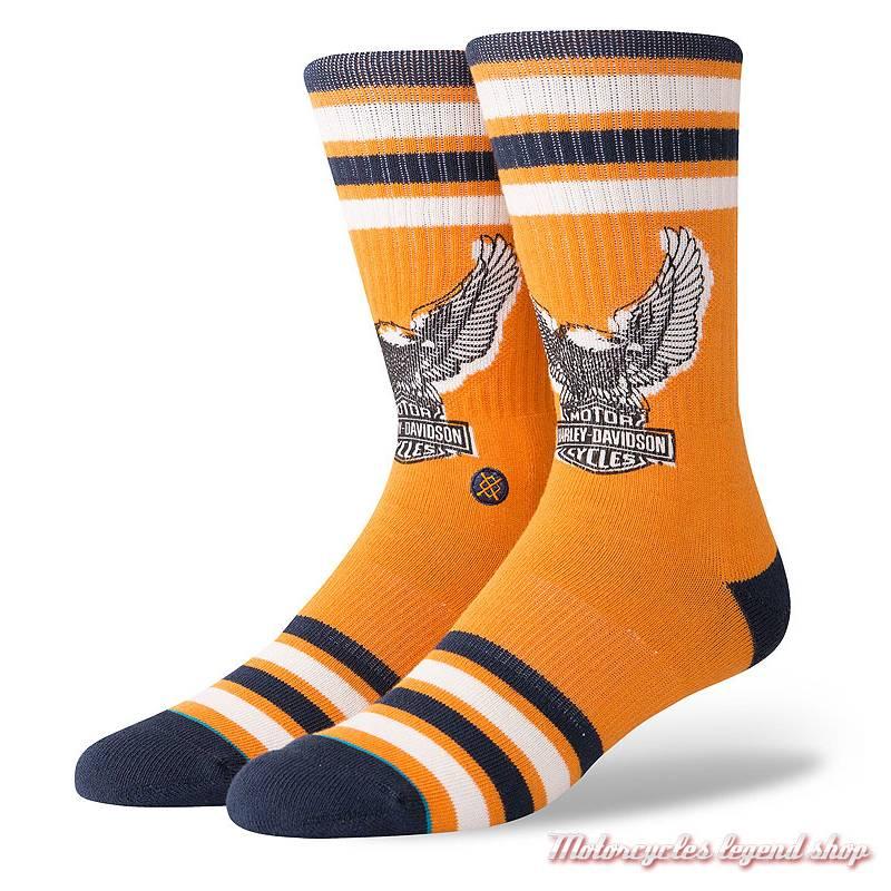 Chaussettes Eagle Harley-Davidson homme, orange, M556D18HEO