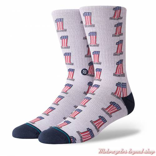 Chaussettes One Americana Harley-Davidson homme, gris, M556D18HOA