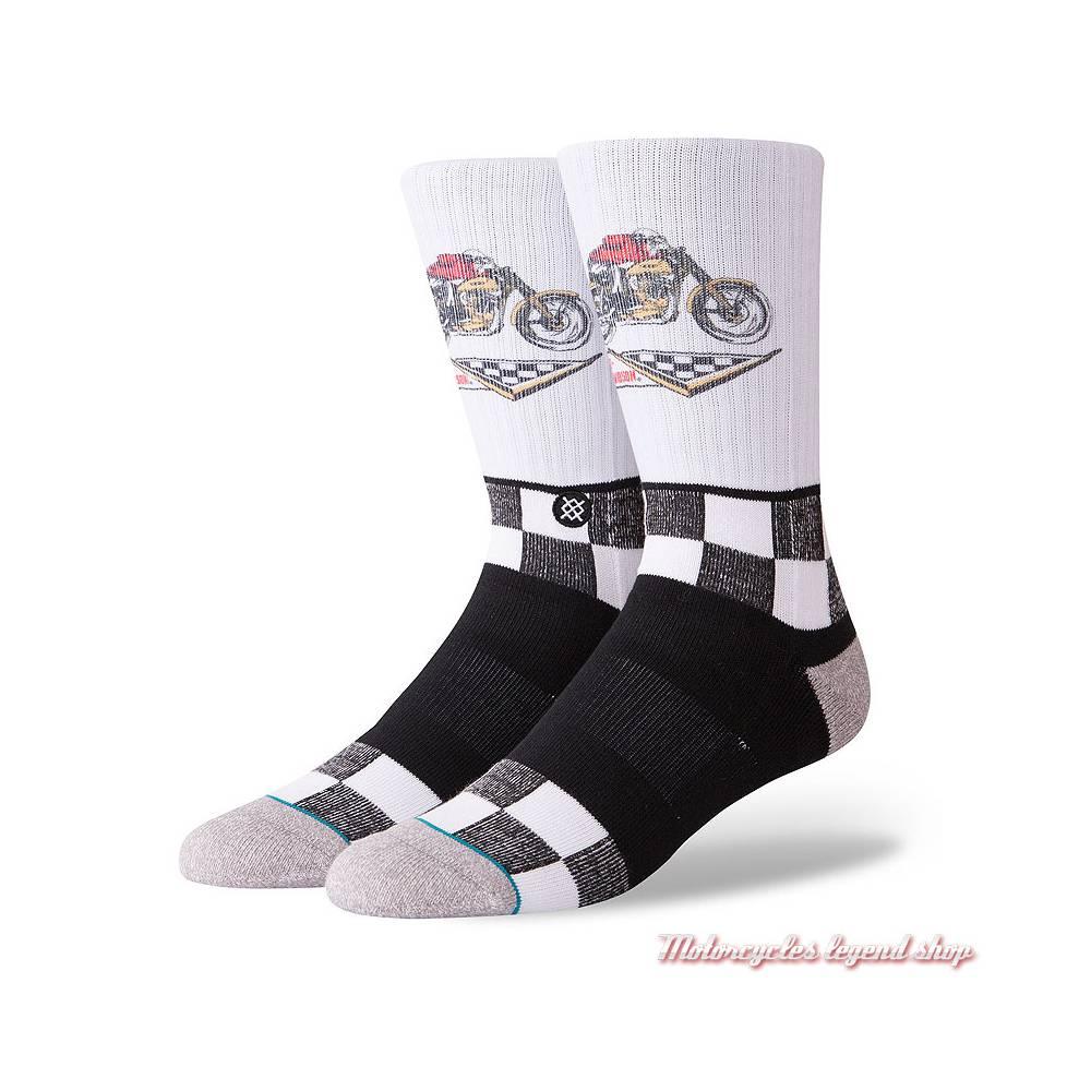 Chaussettes Racer Harley-Davidson homme, blanc, noir, M556D18HRW