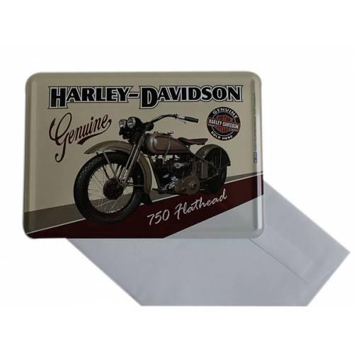 Carte postale métal Harley-Davidson Genuine