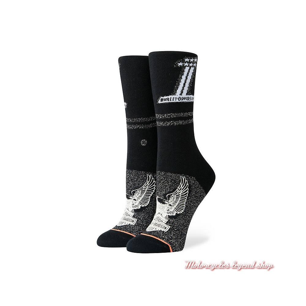 Chaussettes Number One Harley-Davidson femme, noir, W525D18NUM