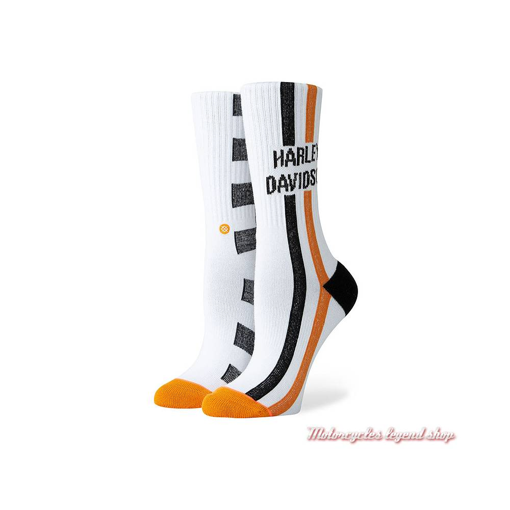 Chaussettes Checkers Harley-Davidson femme, blanc, W556D18HCH