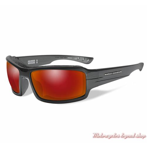 Lunettes solaire Cruise 2 rouge miroir Harley-Davidson homme HACRS11