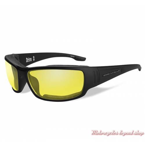 Lunettes solaire Drive 2 Harley-Davidson, noir mat, verre jaune, HADRI11
