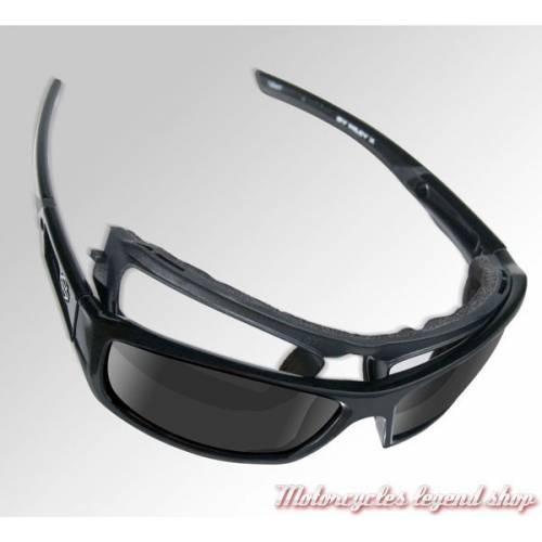 Lunettes jour/nuit Gem Harley-Davidson, visuel cavité intérieur amovible, verres gris, HDGEM03