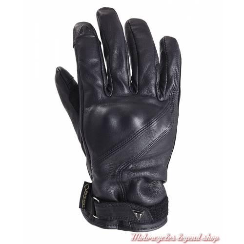 Gants cuir Lothian Goretex Triumph homme, noir, doublés, homologués, MGVA18104