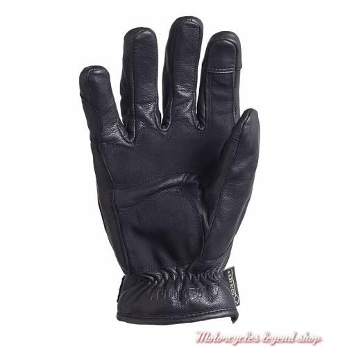 Gants cuir Lothian Goretex Triumph homme, noir, doublés, homologués, paume, MGVA18104