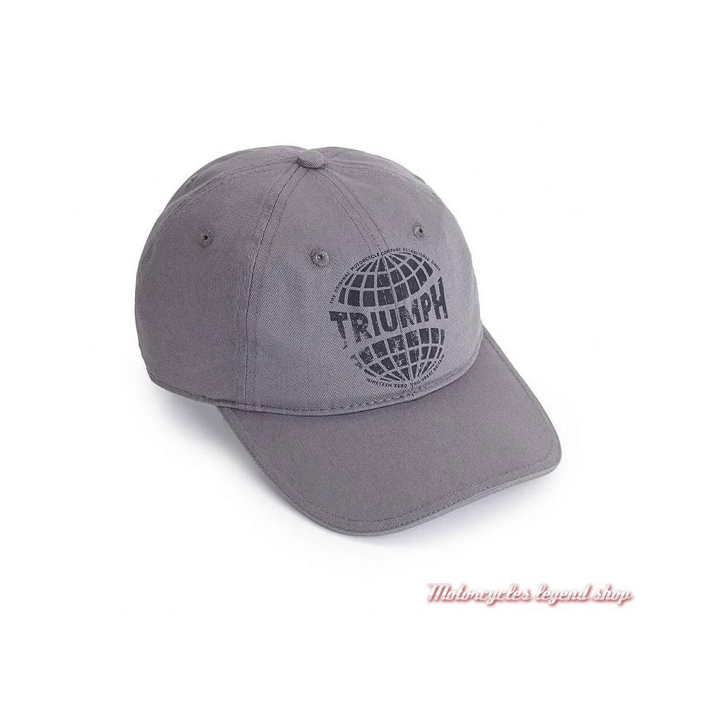 Casquette Wes Triumph homme, gris, coton, MCAA18310