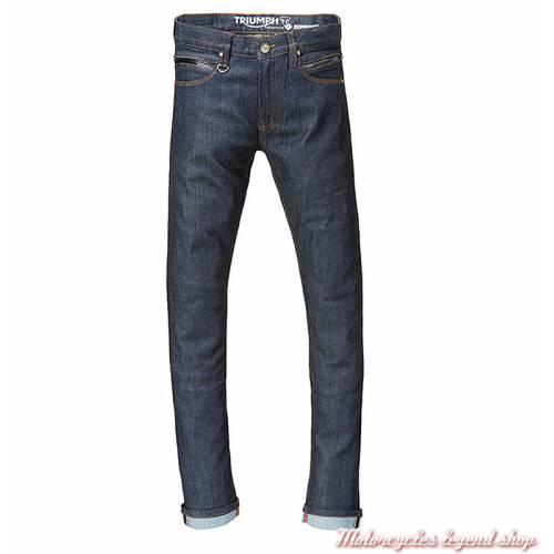 Jeans Lite Riding Triumph homme, bleu, doublé, protections, homologué, MDJS17119