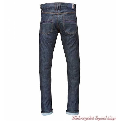 Jeans Lite Riding Triumph homme, bleu, doublé, protections, homologué, dos, MDJS17119