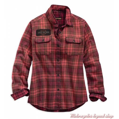 Chemise à carreaux Harley-Davidson femme