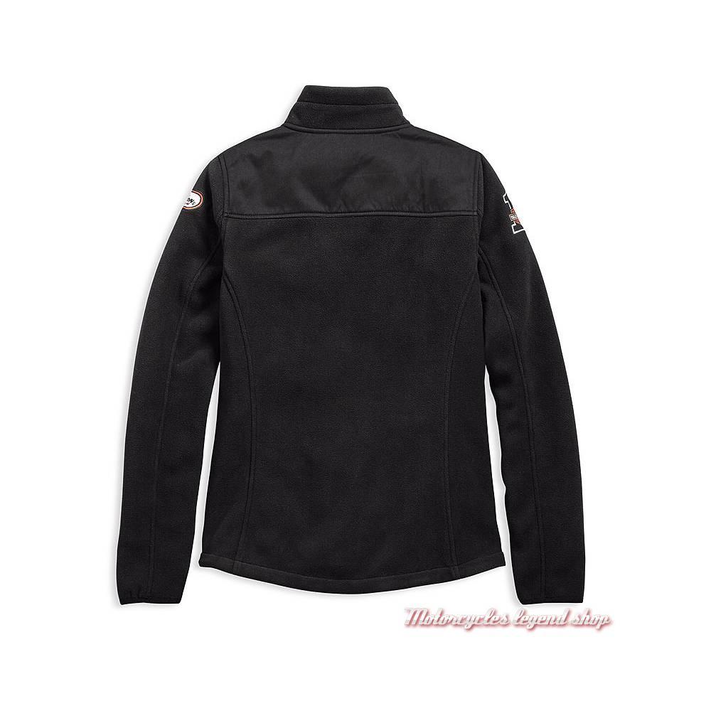 Veste polaire H-D Racing Harley-Davidson femme, zippée, noir, polaire, polyester, dos, 98598-19VW