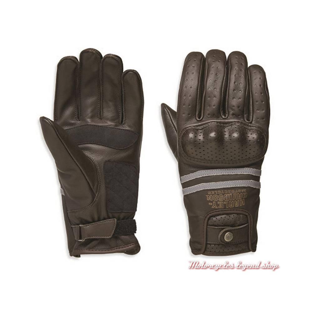 Gants cuir Freemont Harley-Davidson homme, marron, homologués, 98274-19EM