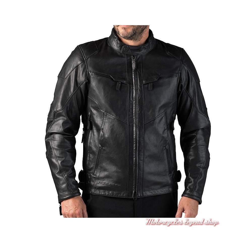 Blouson cuir FXRG Triple Vent Harley-Davidson homme, waterproof, noir, homologué, 98038-19EM