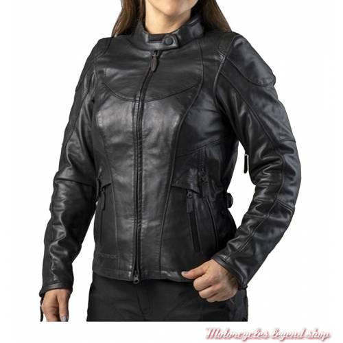 Blouson cuir FXRG Triple Vent Harley-Davidson femme, waterproof, noir, homologué, 98039-19EW