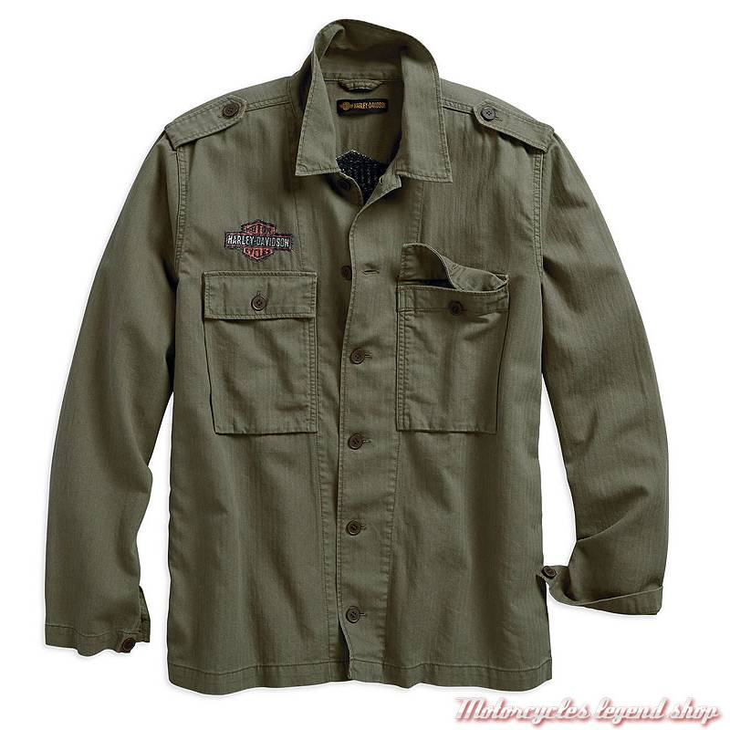 en soldes Braderie vraiment pas cher Veste chemise Herringbone Harley-Davidson homme - Motorcycles Legend shop