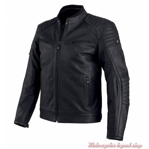 Blouson cuir Wrayburn Harley-Davidson homme, noir, homologué, H-D Moto, 97019-19EM