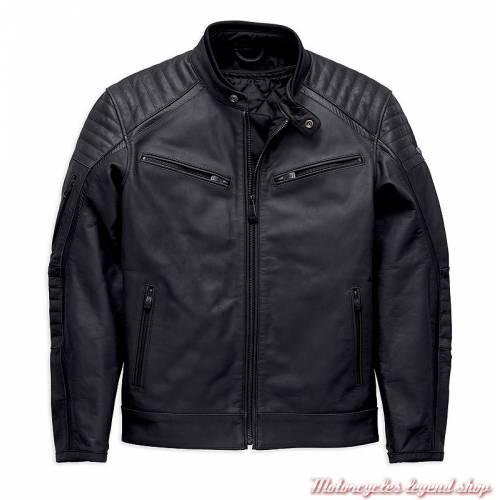 Blouson cuir Wrayburn Harley-Davidson homme, noir, homologué, H-D Moto, 97019-19EM-2